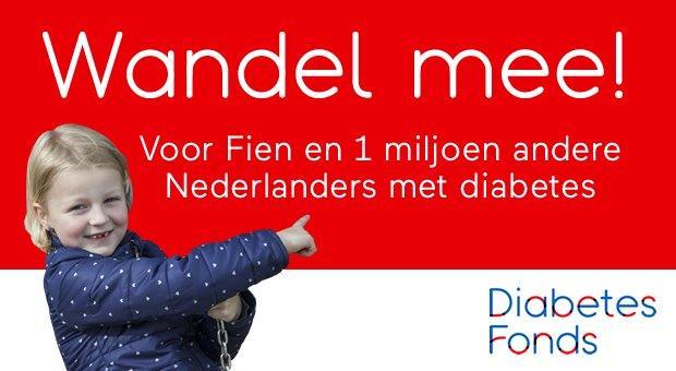 Banner: Wandel mee voor Fien en 1miljoen Nederlanders